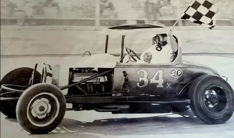Walt Pickard, driving his legendary #34 red coupe, has passed away following a successful motorsports career (courtesy photo/Colorado Motorsports Hall of Fame)